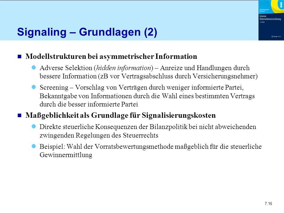 Signaling – Grundlagen (2)