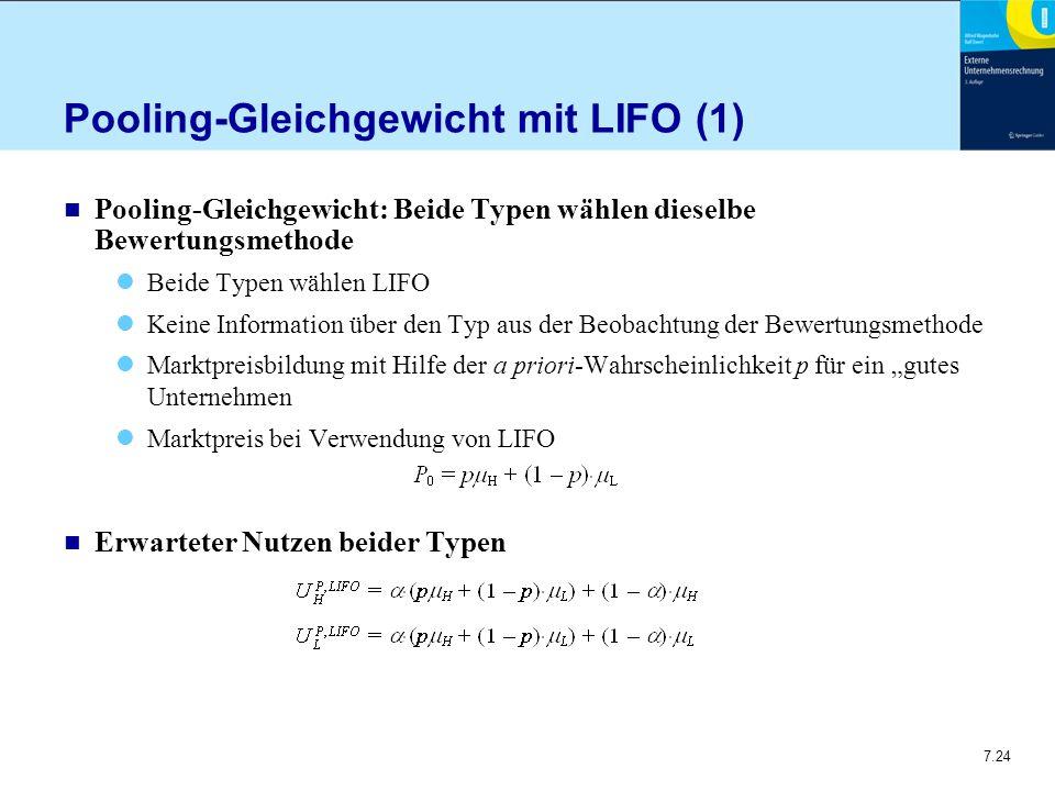 Pooling-Gleichgewicht mit LIFO (1)