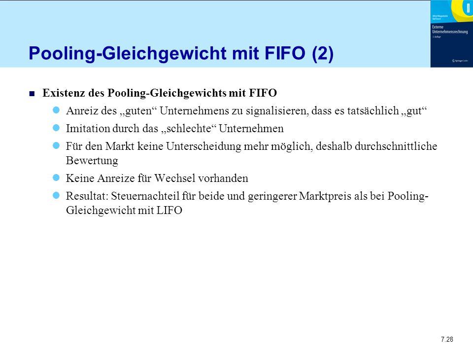 Pooling-Gleichgewicht mit FIFO (2)