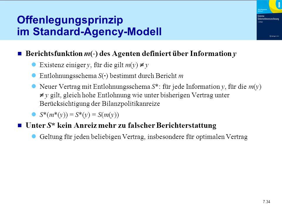 Offenlegungsprinzip im Standard-Agency-Modell