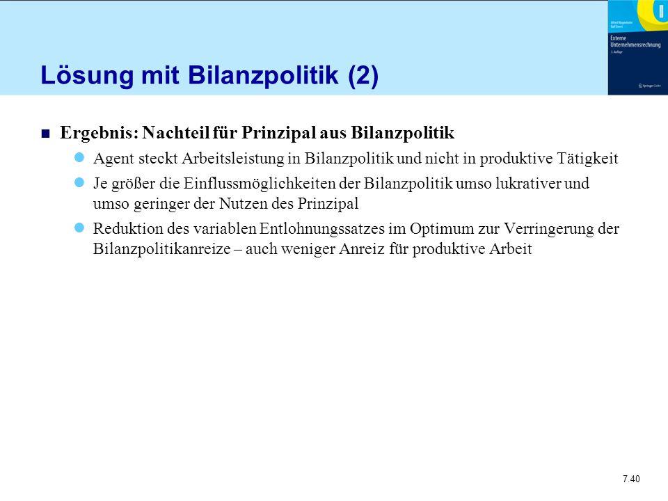 Lösung mit Bilanzpolitik (2)