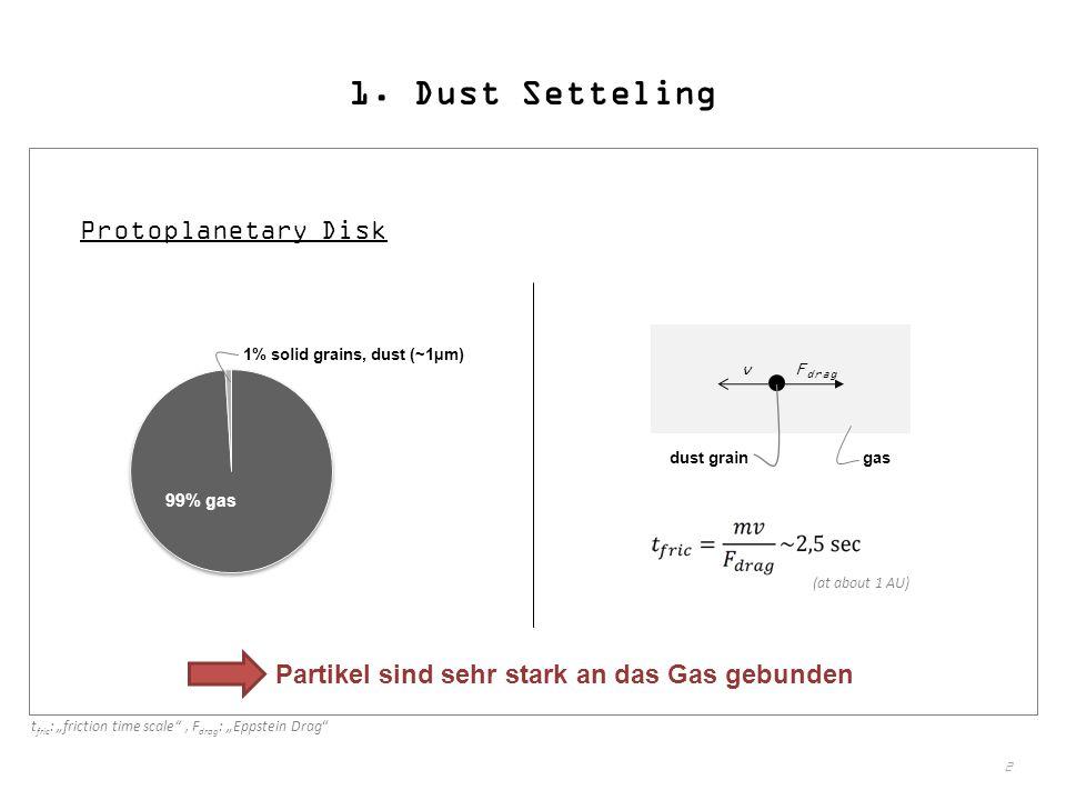 1. Dust Setteling Protoplanetary Disk