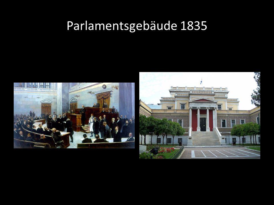 Parlamentsgebäude 1835 François Boulanger), τροποποιημένα από τον Έλληνα αρχιτέκτονα Παναγιώτη Κάλκο.