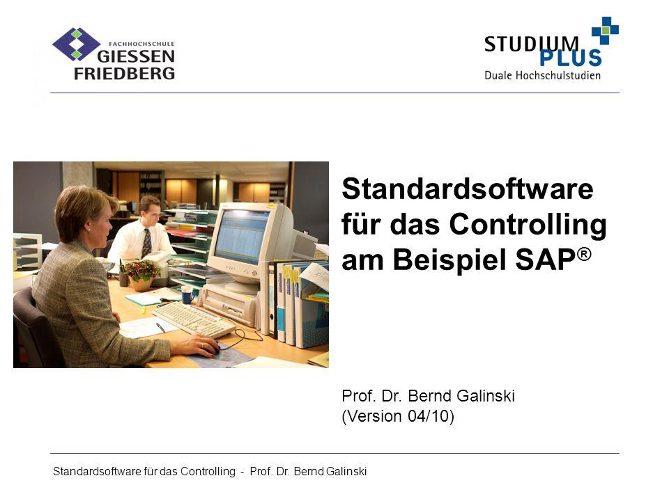 Standardsoftware für das Controlling am Beispiel SAP®