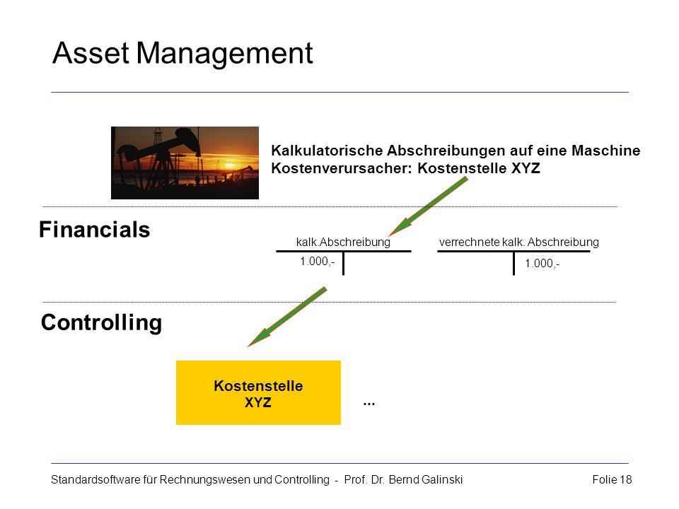 Asset Management Financials Controlling