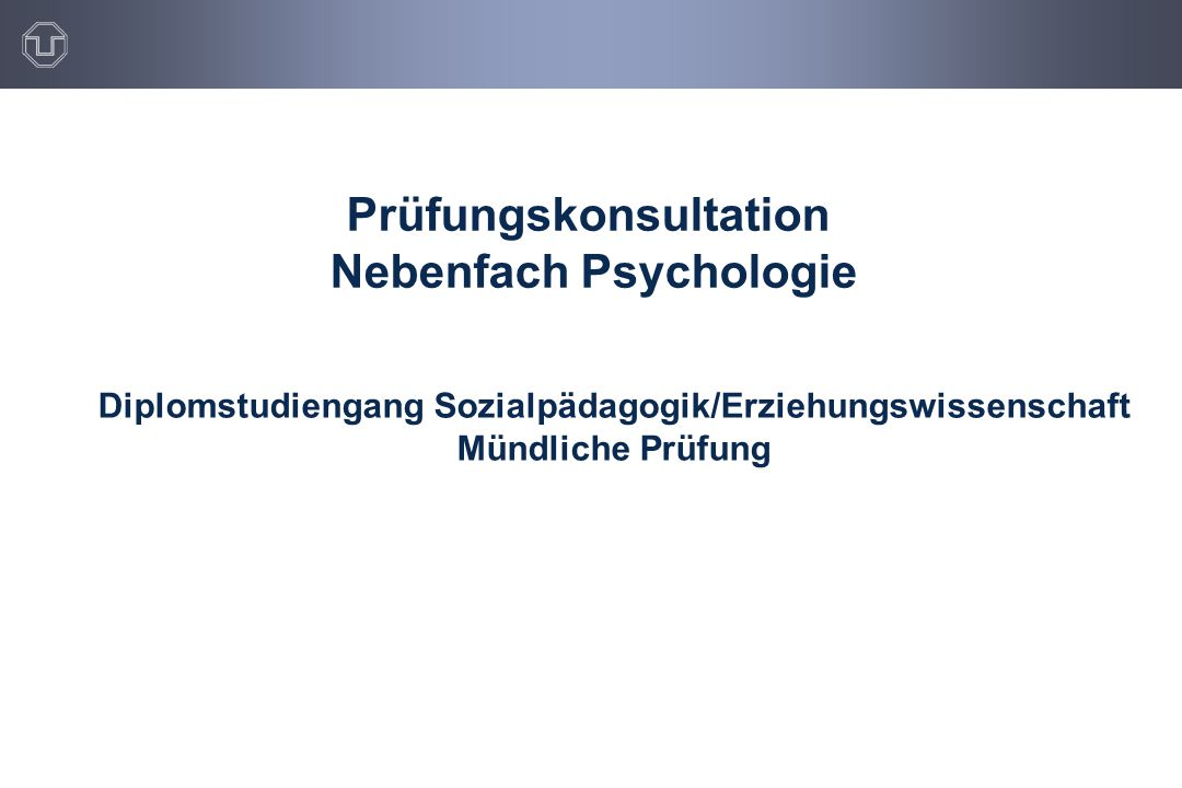 Prüfungskonsultation Nebenfach Psychologie