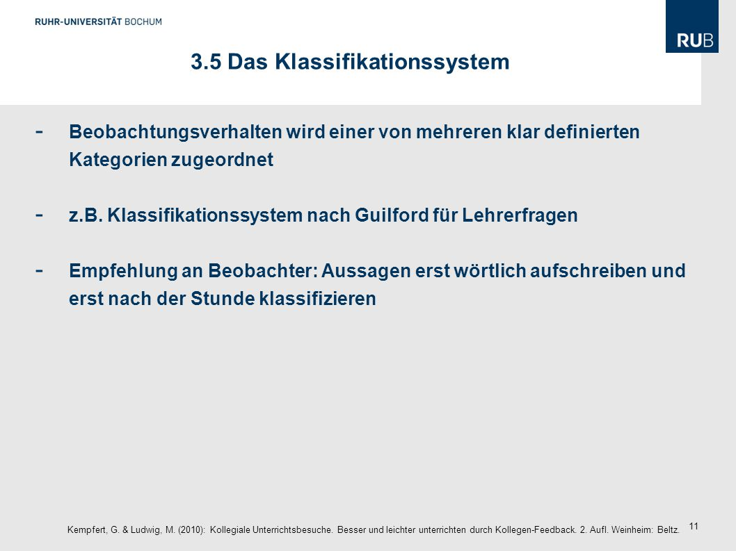 3.5 Das Klassifikationssystem