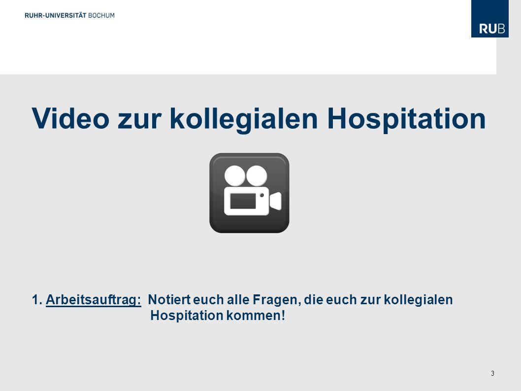 Video zur kollegialen Hospitation