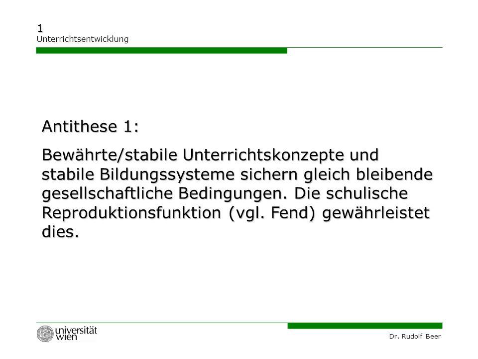 Antithese 1: