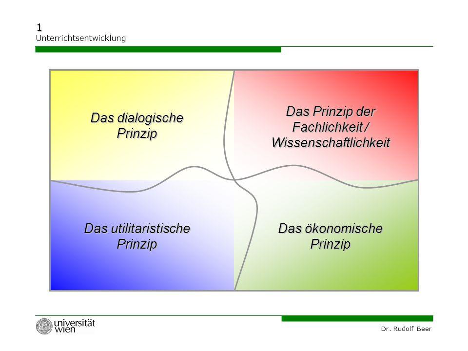 Das Prinzip der Fachlichkeit / Wissenschaftlichkeit