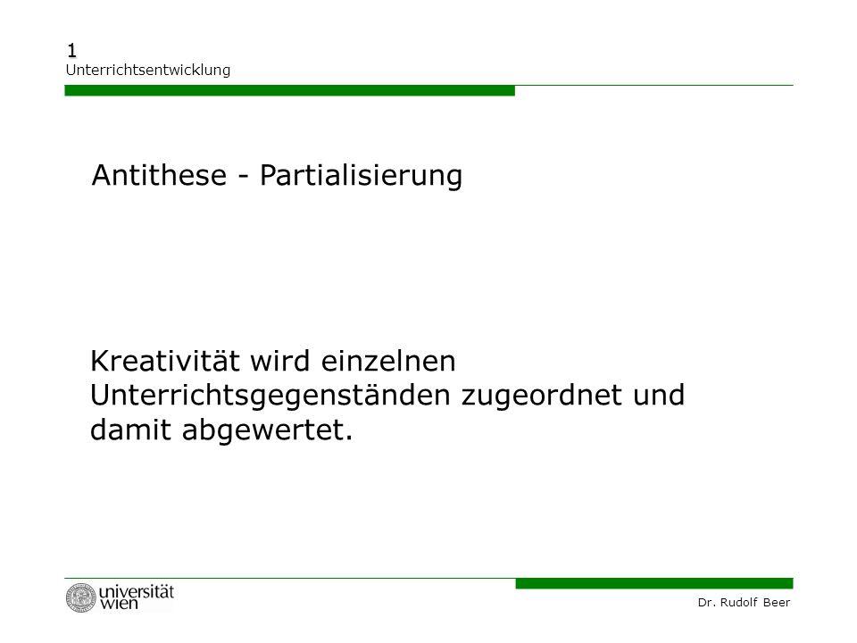 Antithese - Partialisierung