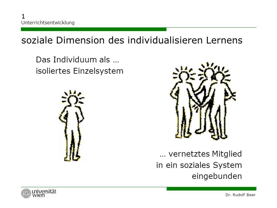 soziale Dimension des individualisieren Lernens