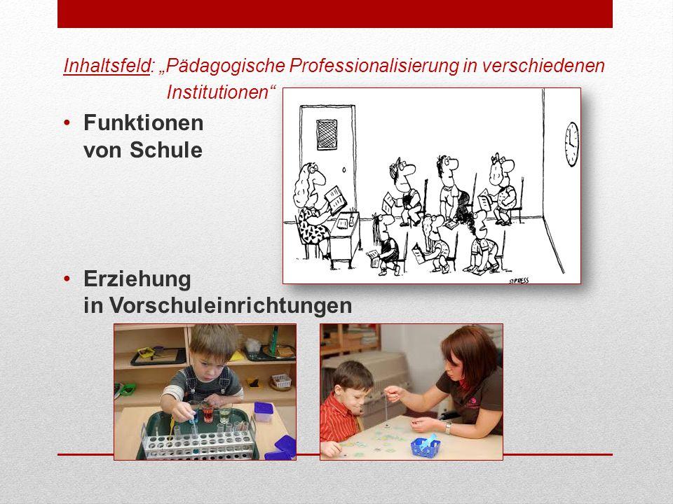 Erziehung in Vorschuleinrichtungen
