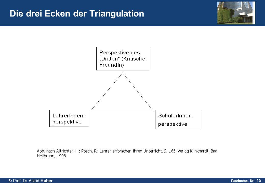 Die drei Ecken der Triangulation