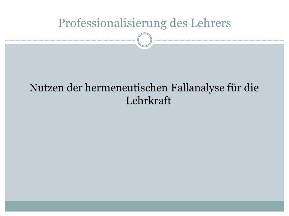 Professionalisierung des Lehrers