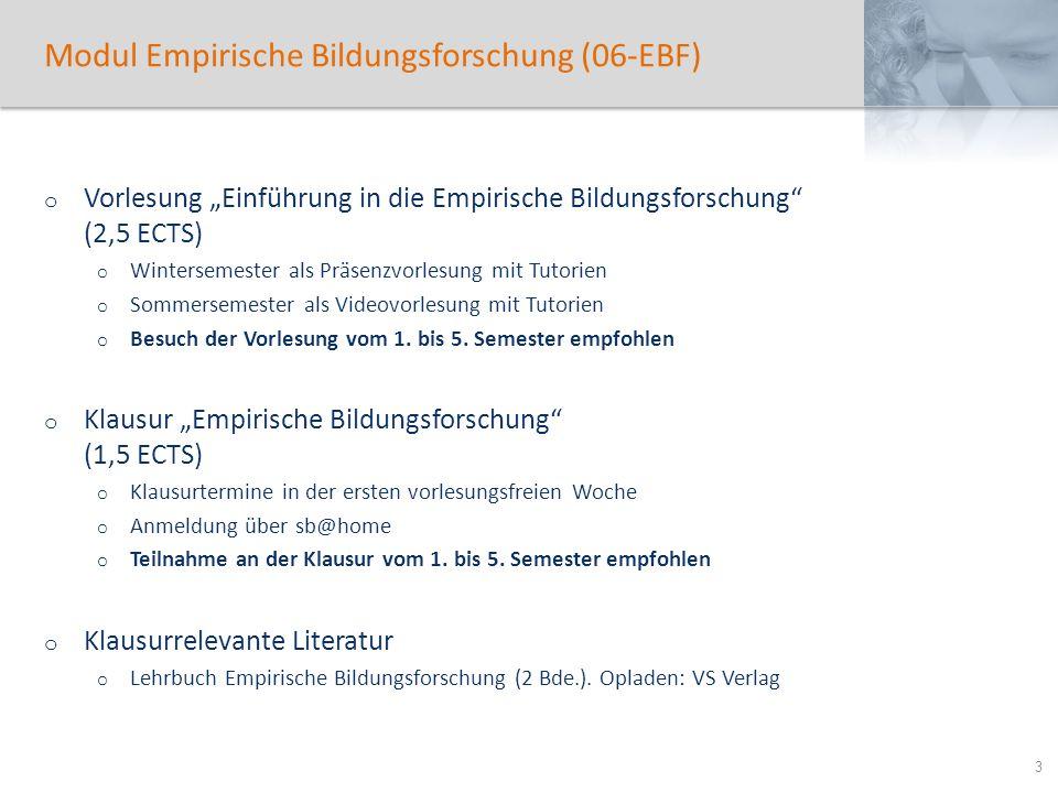 Modul Empirische Bildungsforschung (06-EBF)
