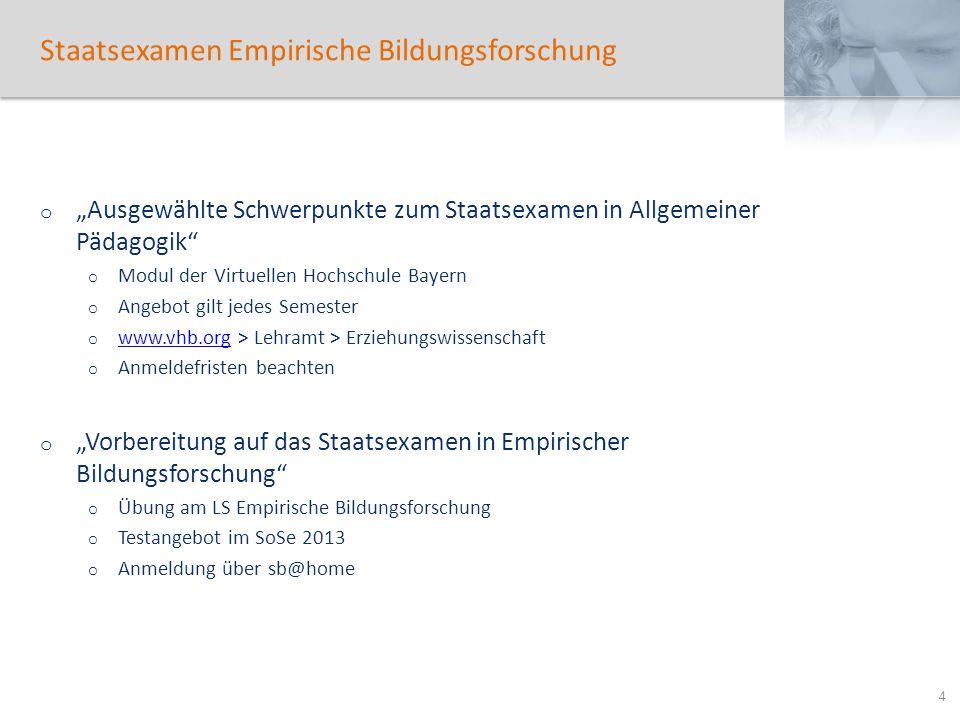Staatsexamen Empirische Bildungsforschung