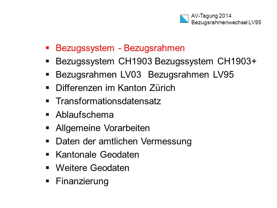 Bezugssystem - Bezugsrahmen Bezugssystem CH1903 Bezugssystem CH1903+