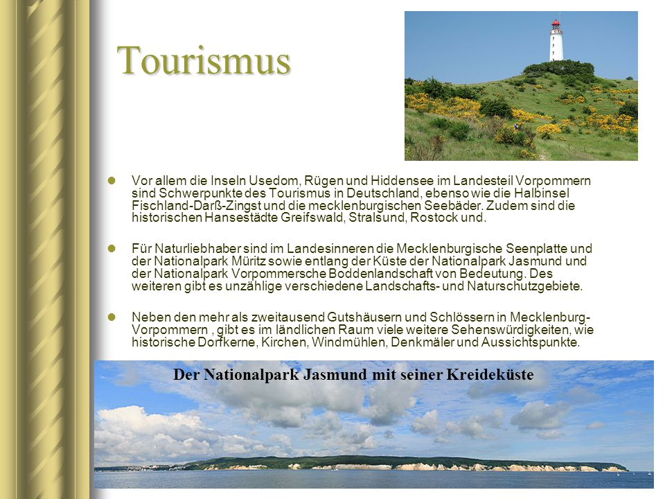 Tourismus Der Nationalpark Jasmund mit seiner Kreideküste