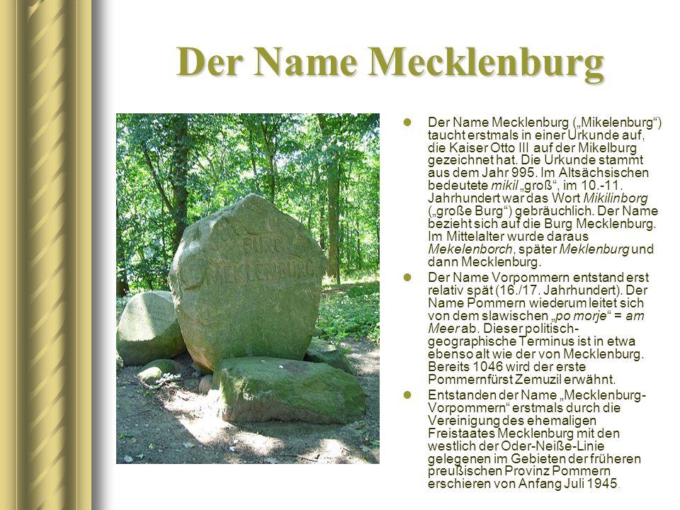 Der Name Mecklenburg