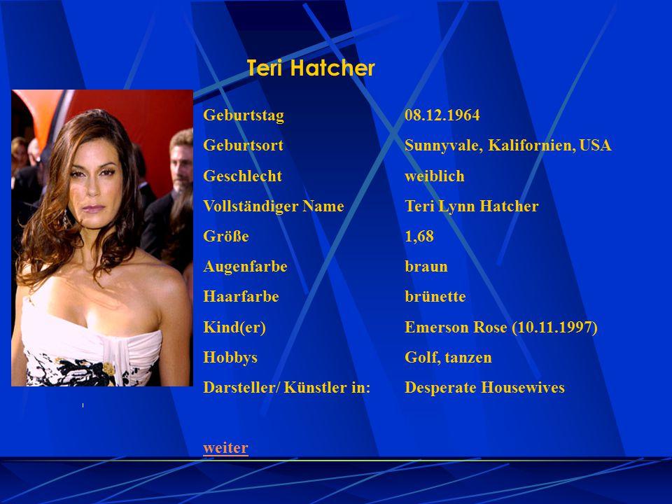 Teri Hatcher Geburtstag 08.12.1964