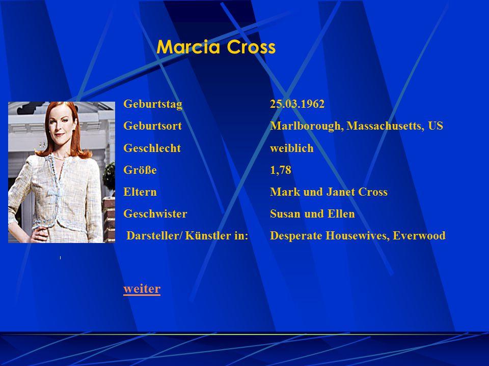 Marcia Cross weiter Geburtstag 25.03.1962