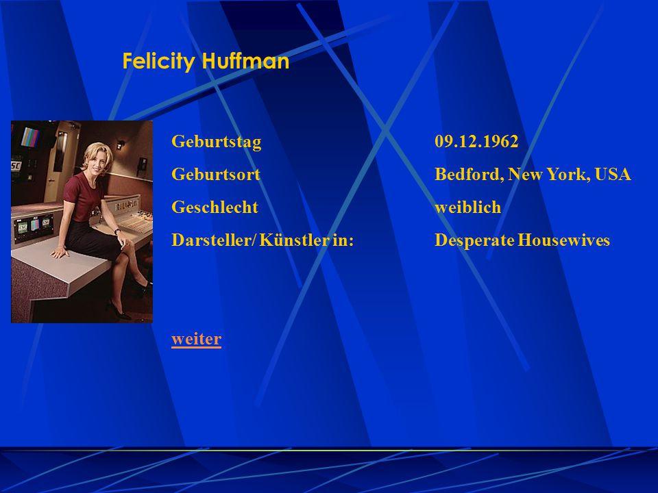 Felicity Huffman Geburtstag 09.12.1962