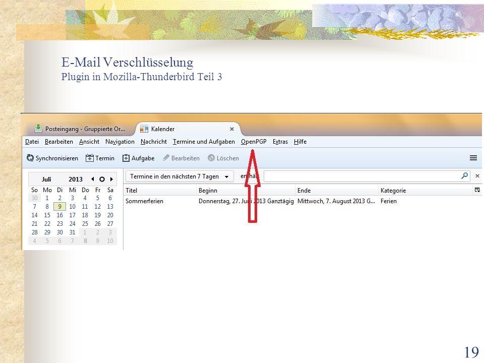 E-Mail Verschlüsselung Plugin in Mozilla-Thunderbird Teil 3