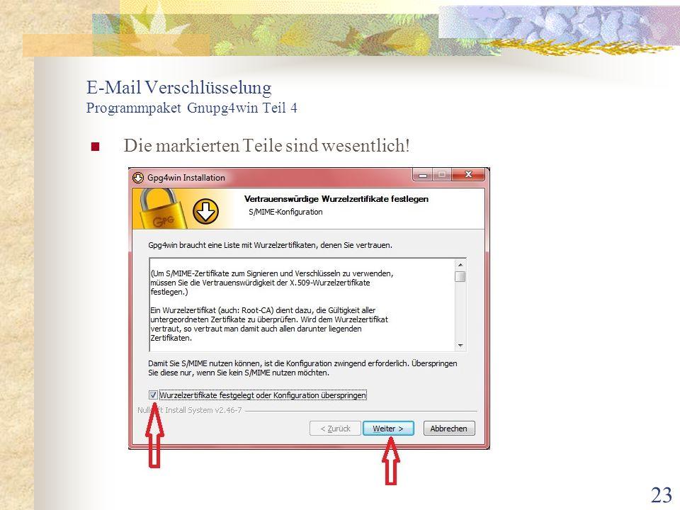 E-Mail Verschlüsselung Programmpaket Gnupg4win Teil 4
