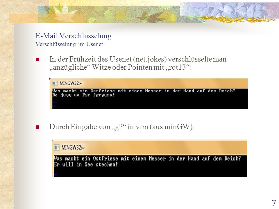 E-Mail Verschlüsselung Verschlüsselung im Usenet