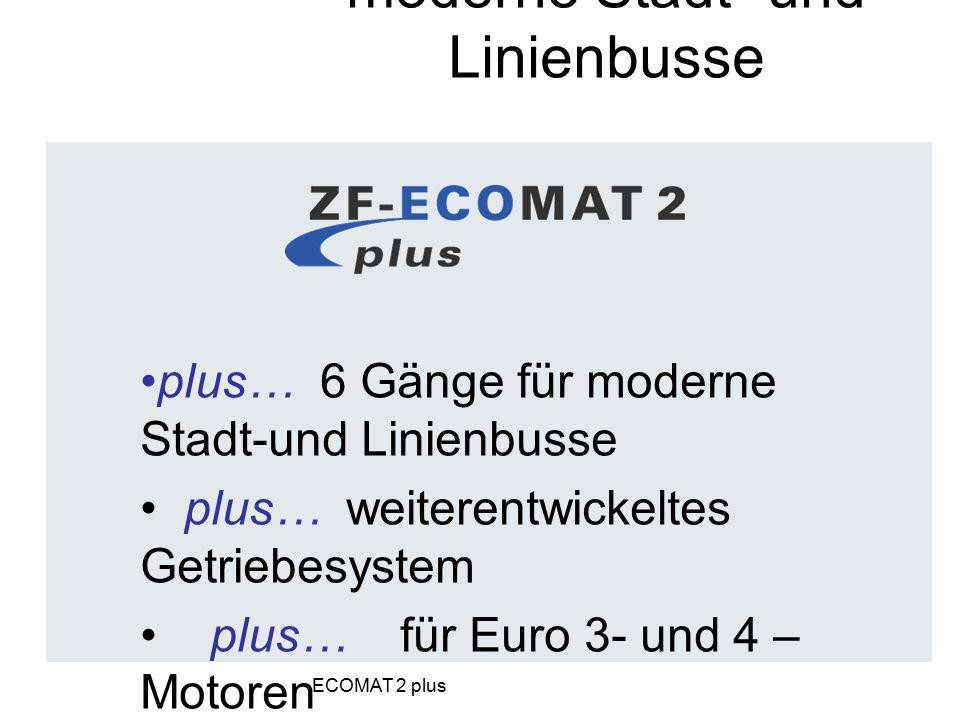 Das Automatgetriebe für moderne Stadt- und Linienbusse