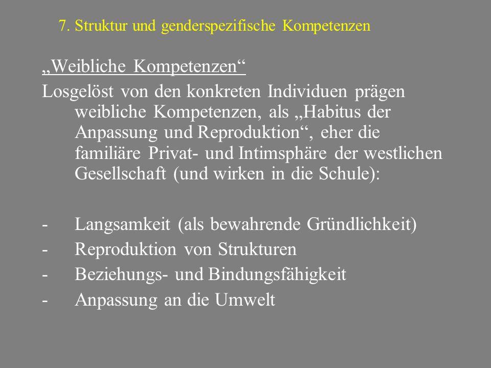 7. Struktur und genderspezifische Kompetenzen