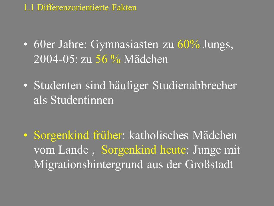 1.1 Differenzorientierte Fakten