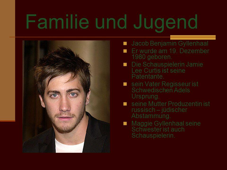 Familie und Jugend Jacob Benjamin Gyllenhaal