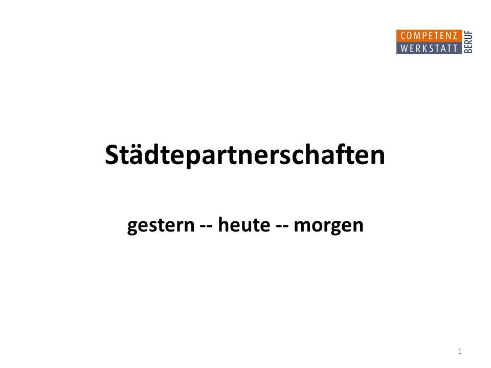 Städtepartnerschaften