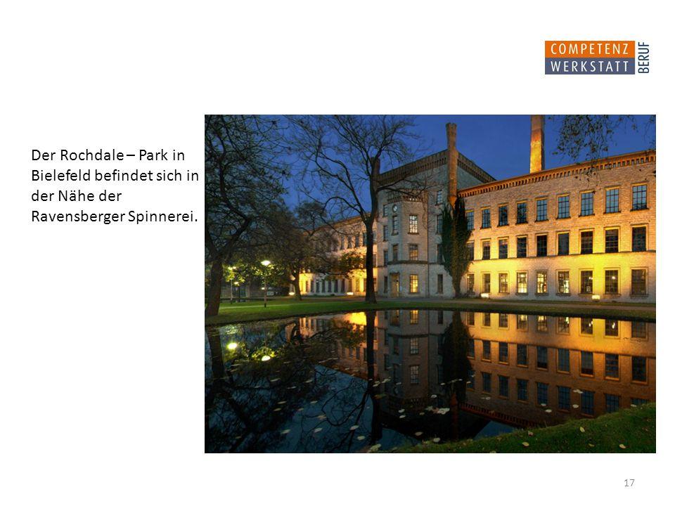 Der Rochdale – Park in Bielefeld befindet sich in der Nähe der Ravensberger Spinnerei.
