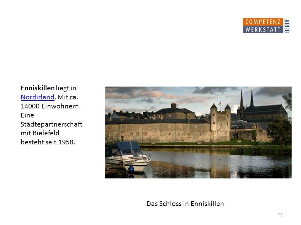 Enniskillen liegt in Nordirland. Mit ca.