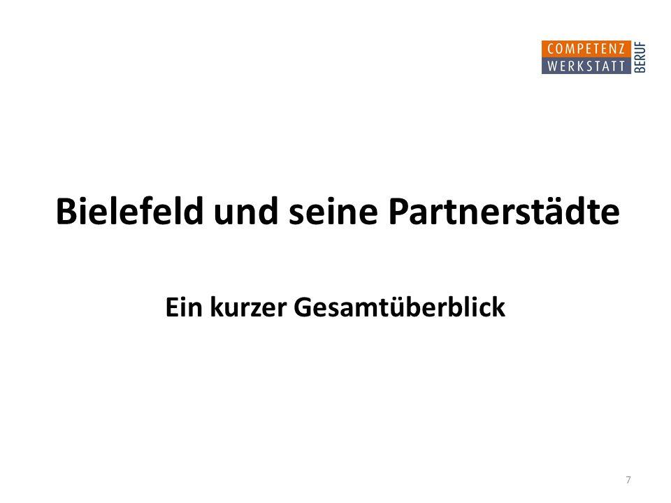 Bielefeld und seine Partnerstädte