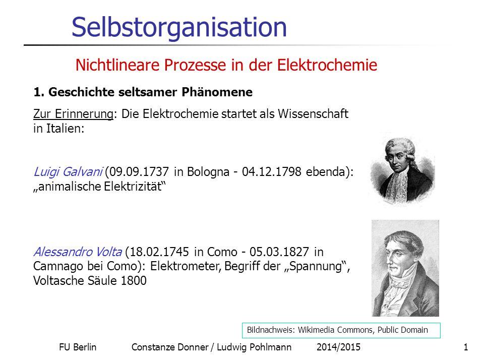 FU Berlin Constanze Donner / Ludwig Pohlmann 2014/2015