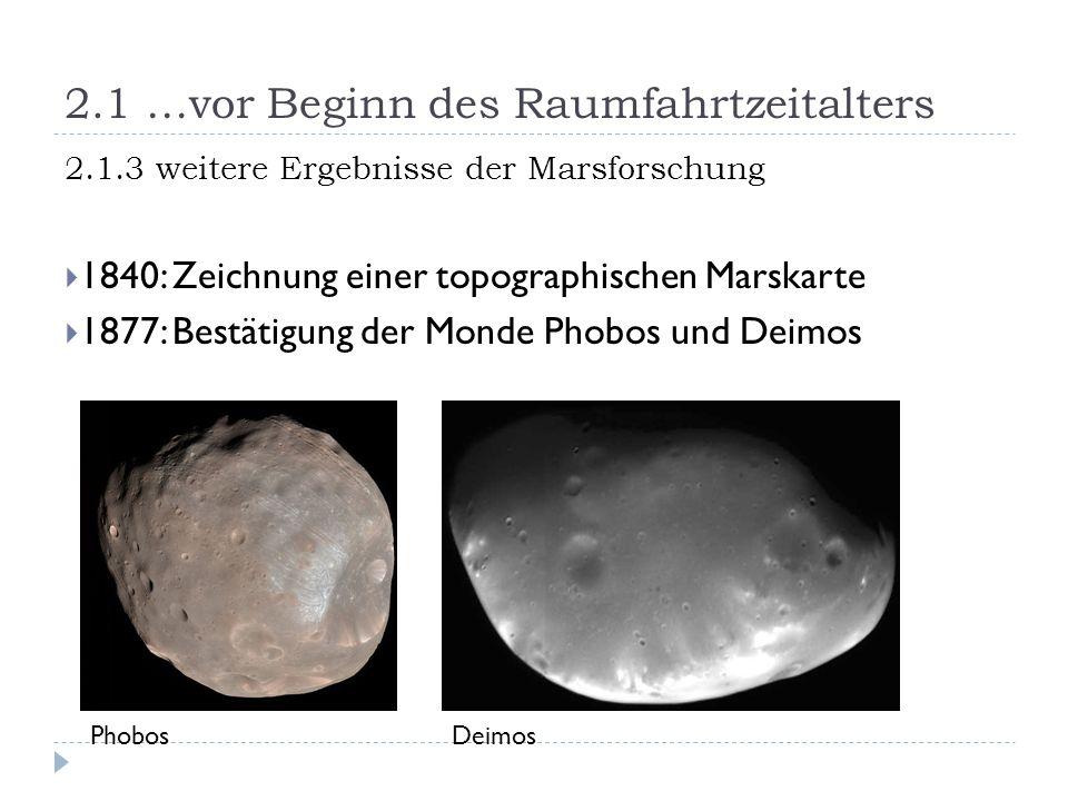 2.1 …vor Beginn des Raumfahrtzeitalters