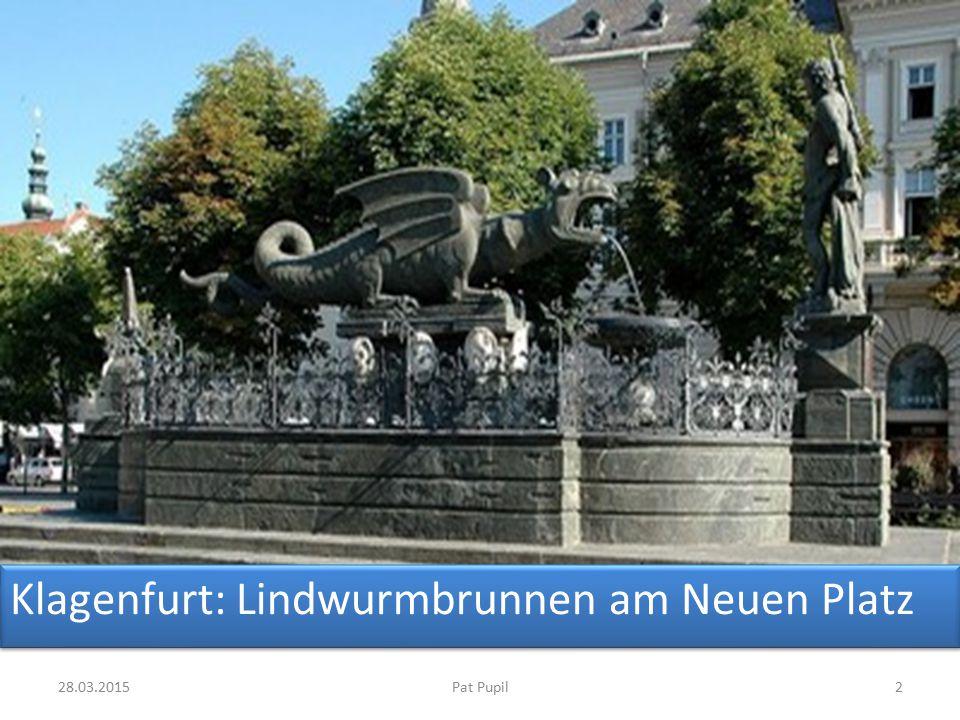 Klagenfurt: Lindwurmbrunnen am Neuen Platz