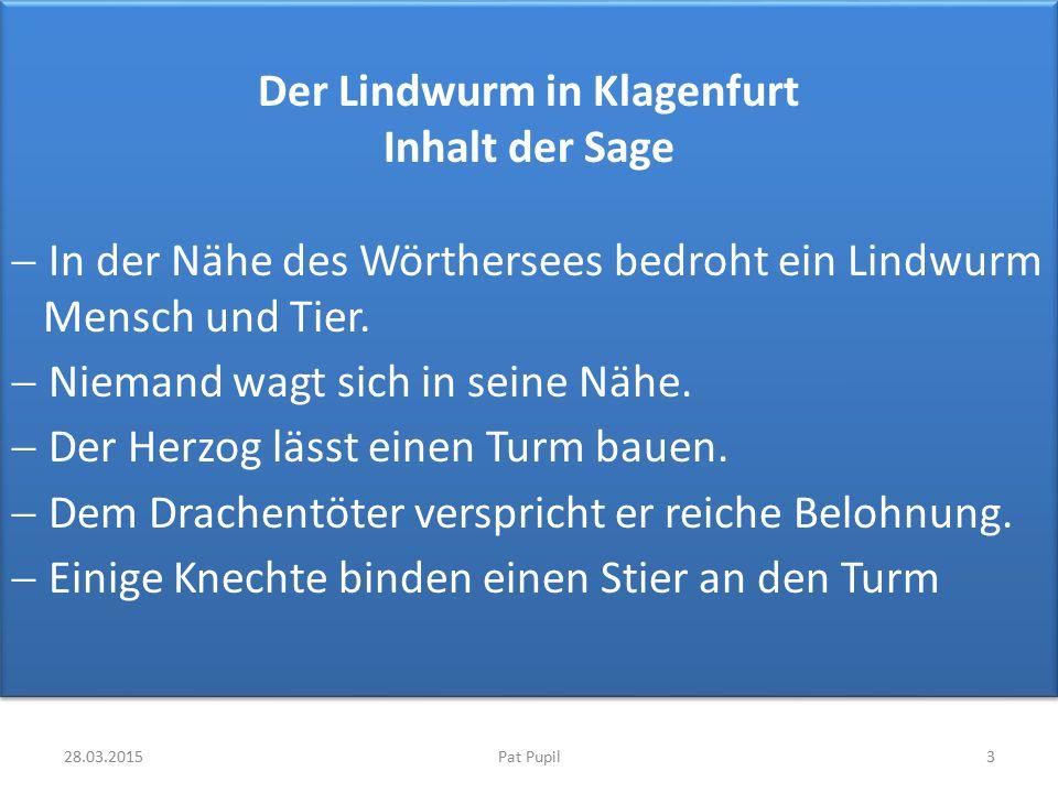Der Lindwurm in Klagenfurt Inhalt der Sage