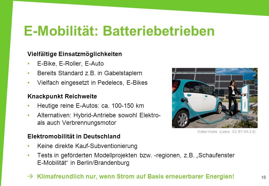E-Mobilität: Batteriebetrieben