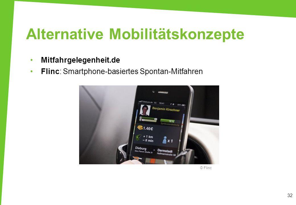 Alternative Mobilitätskonzepte