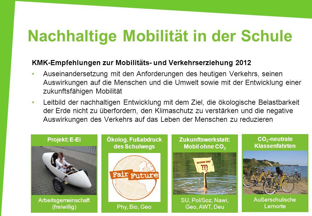 Nachhaltige Mobilität in der Schule