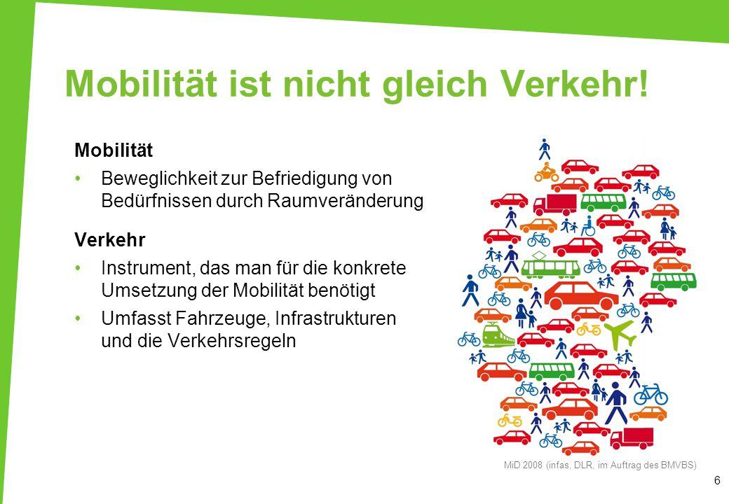 Mobilität ist nicht gleich Verkehr!