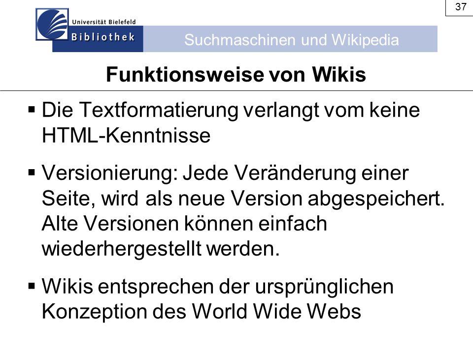 Funktionsweise von Wikis