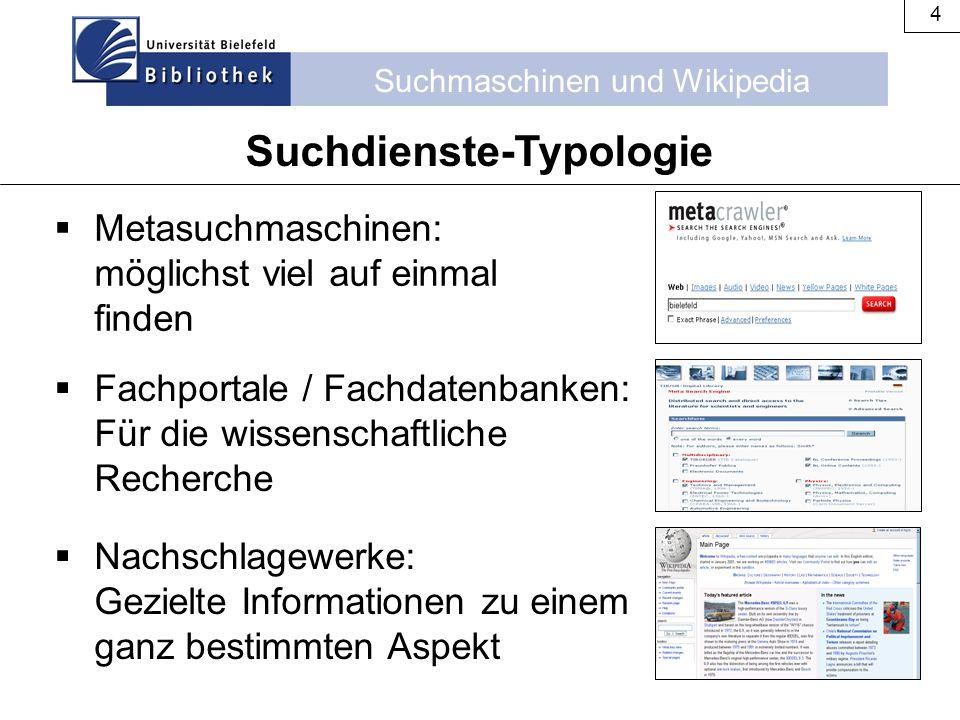 Suchdienste-Typologie