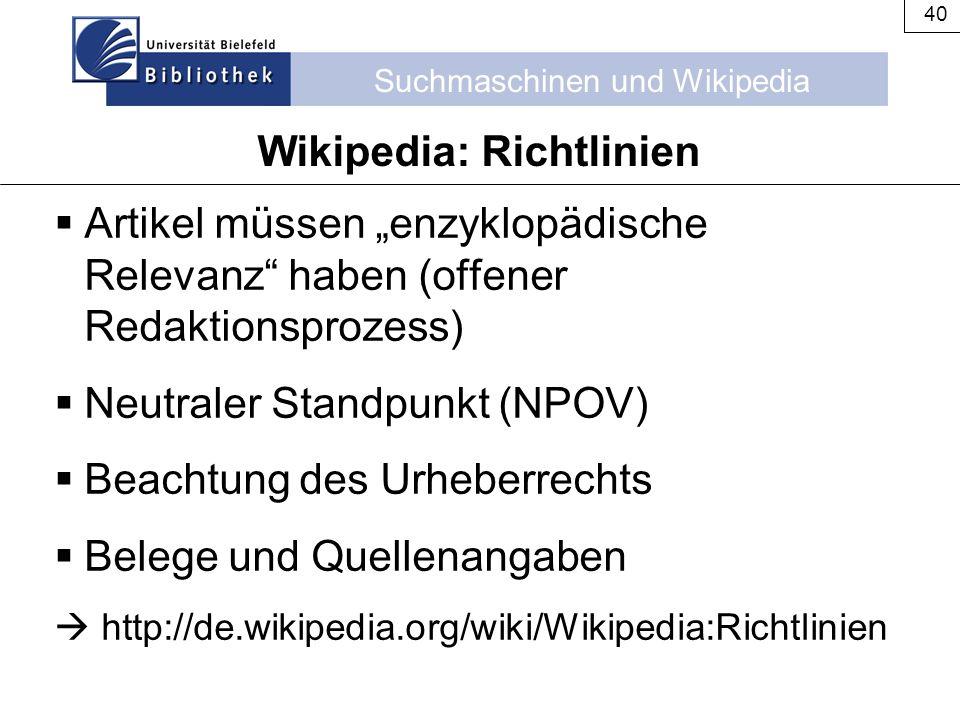 Wikipedia: Richtlinien