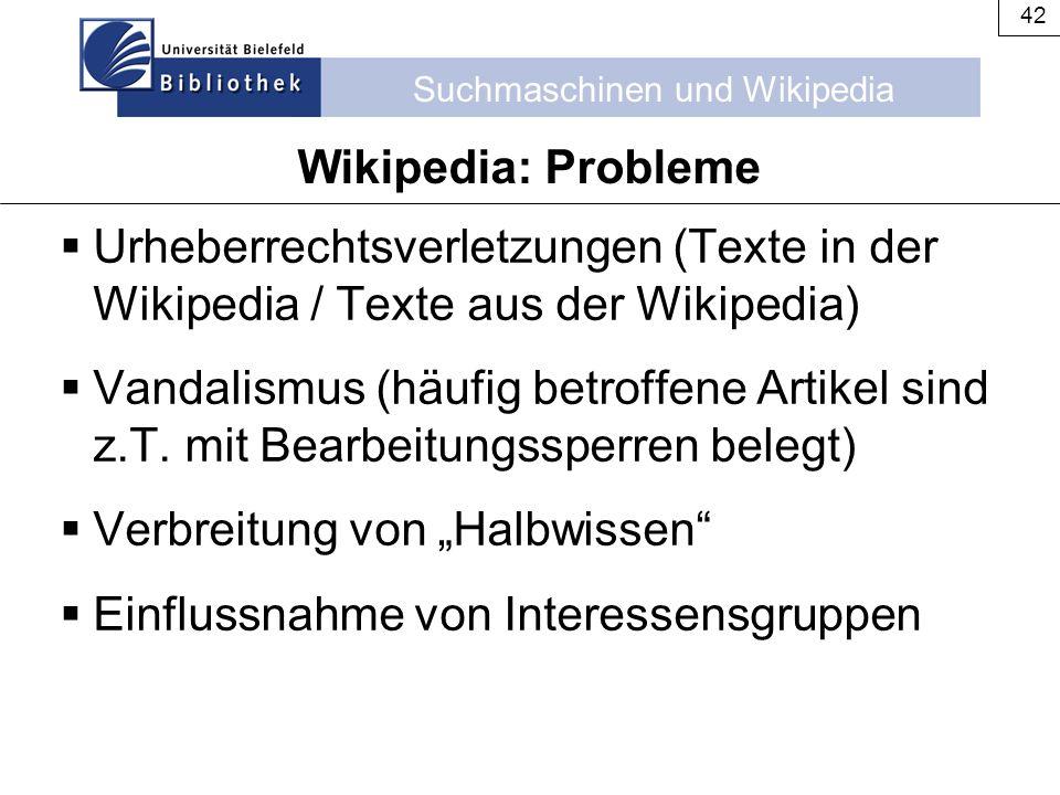 Wikipedia: Probleme Urheberrechtsverletzungen (Texte in der Wikipedia / Texte aus der Wikipedia)